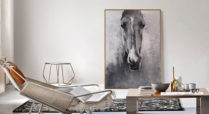 How to Purchase Large Abstract Horse Painting
